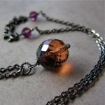 Amber Glow necklace - distr..