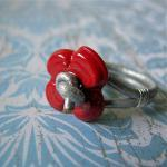 Poppy Ring - Handmade Glas..