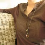 Flutter necklace - pyrite /..